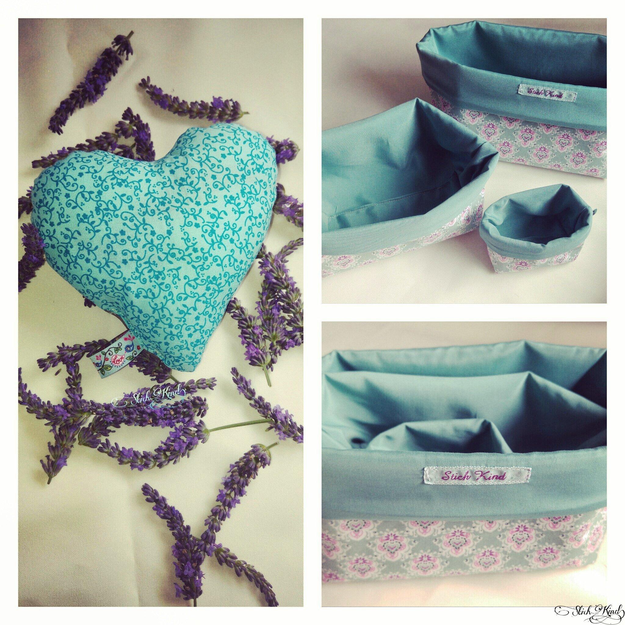 Lavendelherz - selbst genäht